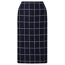 Buy Jigsaw Window Pane Pencil Skirt, Navy Online at johnlewis.com
