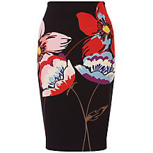 Buy Fenn Wright Manson Petite Naples Flower Placement Skirt, Black/Multi Online at johnlewis.com