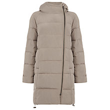 Buy Warehouse Hooded Padded Coat, Stone Online at johnlewis.com