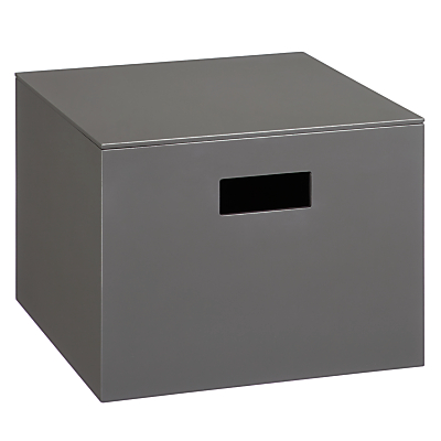 House by John Lewis Lidded Lacquer Storage Box, Grey