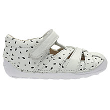 Buy Clarks Baby Little Mae Leather Shoes, White Online at johnlewis.com