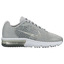 Buy Nike Children's Air Max Sequent 2 Trainers, Grey Online at johnlewis.com