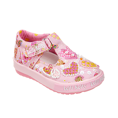 Lelli Kelly Children's Angel Heart Rip-Tape T-Bar Shoes, Pink