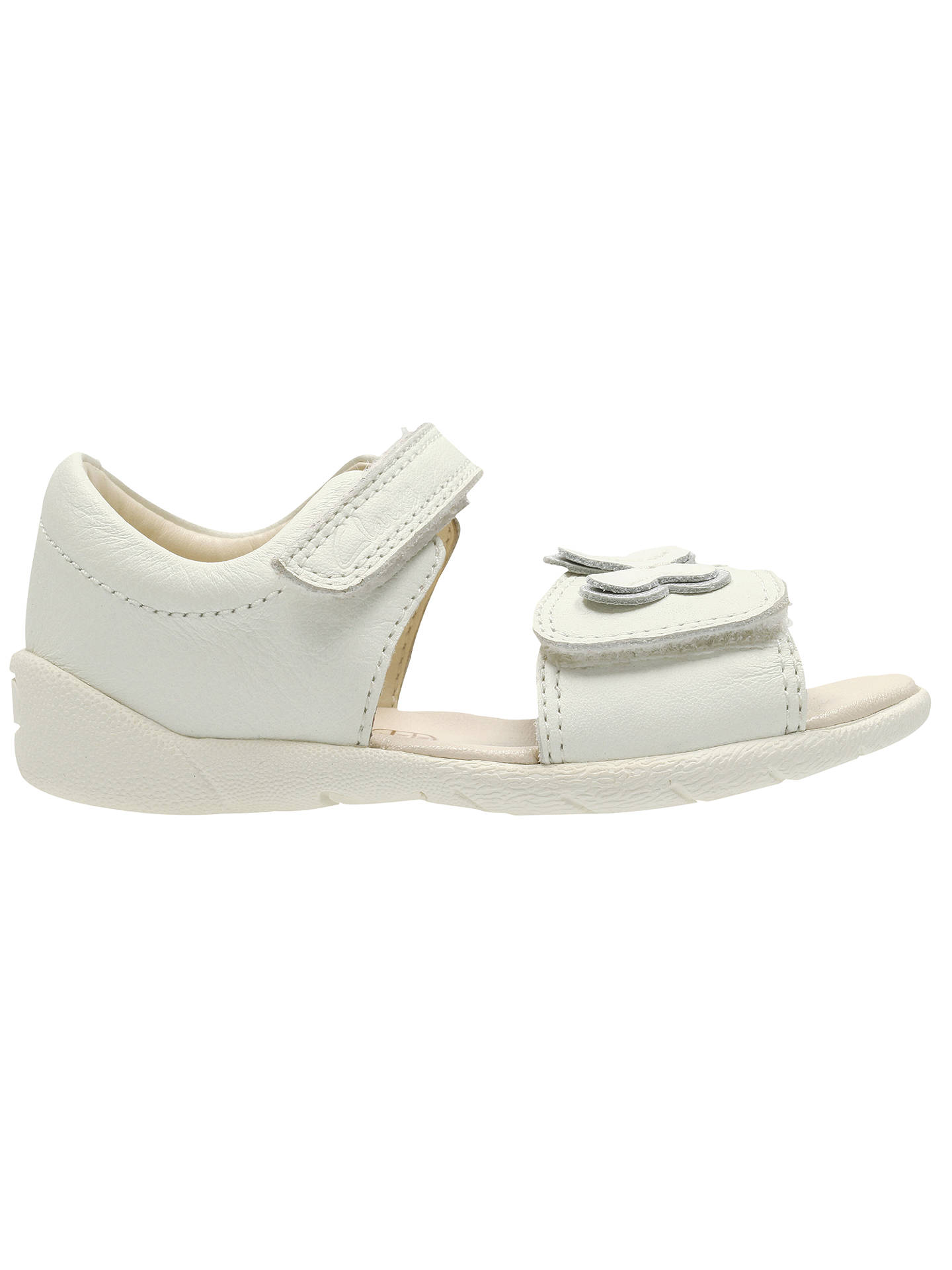 deseable Bebida Todo el mundo  Clarks Baby Kiani Sun Rip-Tape Leather Sandals, White at John Lewis &  Partners