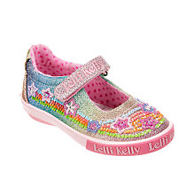 Buy Lelli Kelly Rainbow Stars Rip-Tape Dolly Shoes, Multi/Glitter Online at johnlewis.com