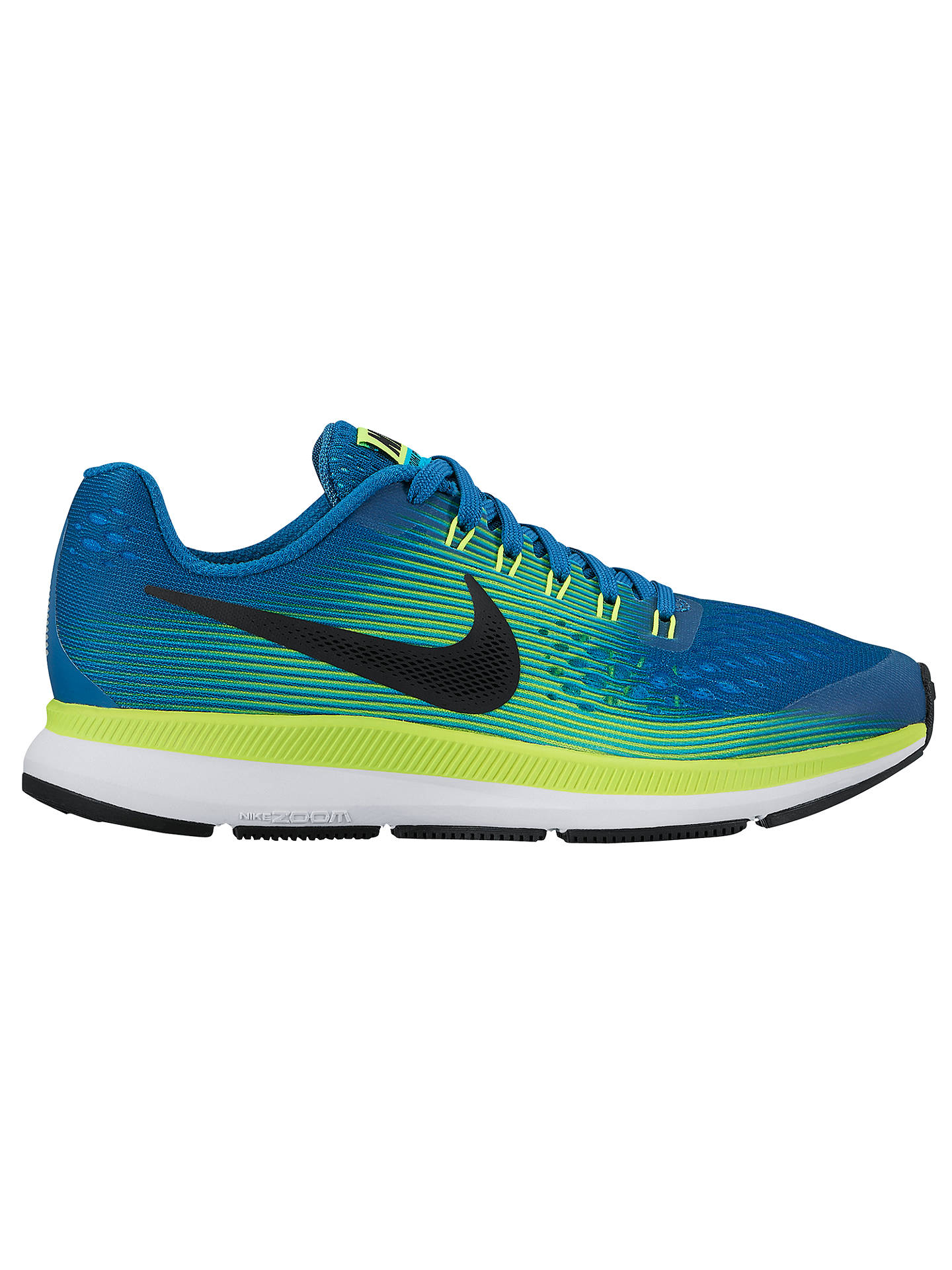 hot sale online 0a553 41f4b Buy Nike Children s Air Zoom Pegasus 34 (GS) Running Shoes, Blue, 3 ...