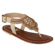 Buy John Lewis Children's Jewel Post Sandals, Gold Online at johnlewis.com