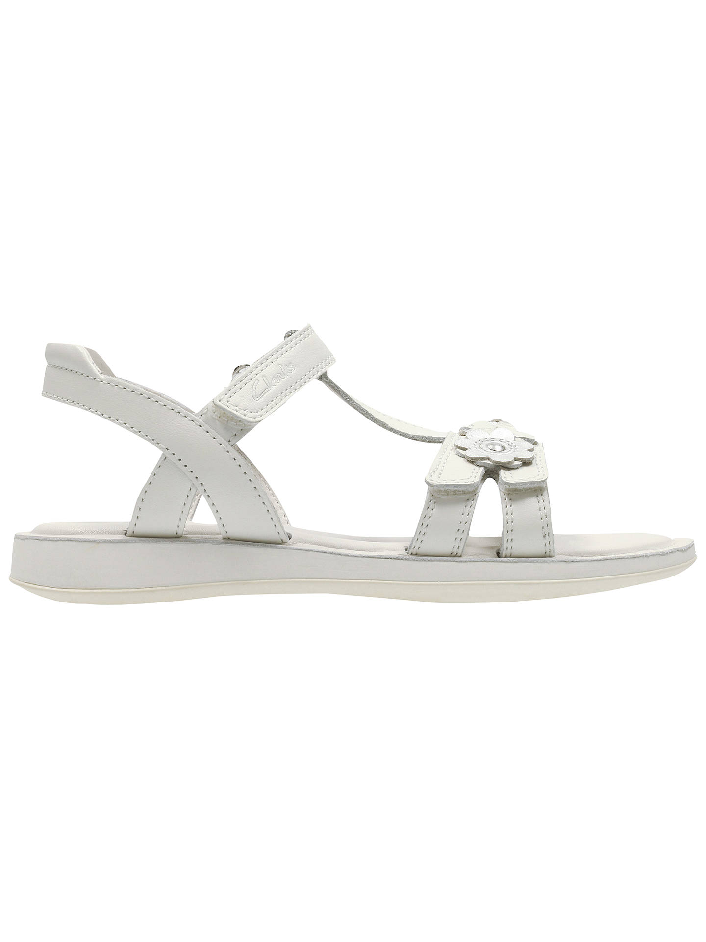 3ab778a3c7f Buy Clarks Children s Sea Sally Rip-Tape Leather Sandals