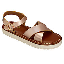 Buy John Lewis Children's Steph Flatform Sandals, Rose Gold Online at johnlewis.com