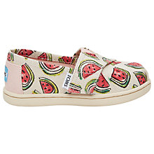 Buy TOMS Children's Alpargatas Watermelon Casual Shoes, Multi Online at johnlewis.com