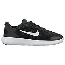 Buy Nike Children's Free Run 2 Lace Up Trainers, White Online at johnlewis.com