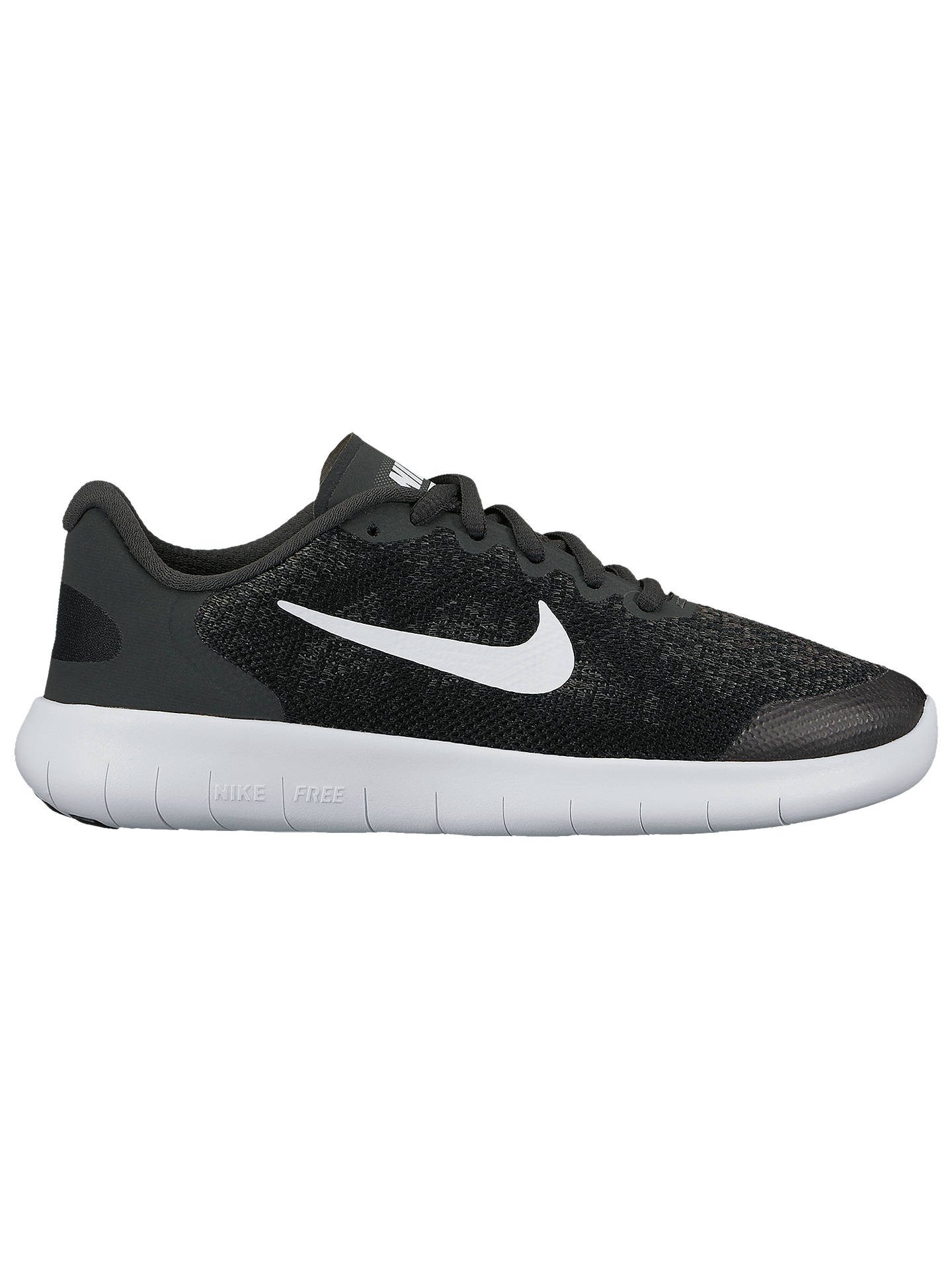 Buy Nike Children's Free Run 2 Lace Up Trainers, Black/White, 3 Online at johnlewis.com