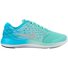 Buy Nike Children's Lunar Stelos Lace Up Trainers, Turquoise Online at johnlewis.com