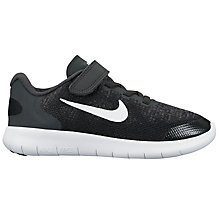 Buy Nike Children's Free Run 2 PS Rip Tape Trainers, Black/White Online at johnlewis.com