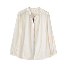 Buy Toast Cotton Khadi Collarless Shirt, Off White Online at johnlewis.com