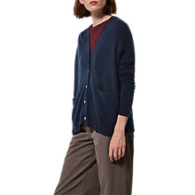 Buy Toast Boxy Wool Cashmere Cardigan, Navy Online at johnlewis.com
