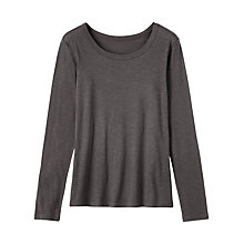 Buy Toast Fine Slubby Cotton T-Shirt, Slate Online at johnlewis.com