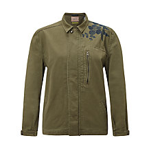 Buy Maison Scotch Army Jacket With Embroidery, Green Online at johnlewis.com
