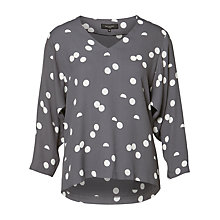Buy Selected Femme Hallie Printed Top, Smoked Pearl Online at johnlewis.com