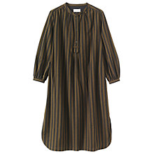 Buy Toast Emma Wide Stripe Shirt Dress, Dark Khaki Brown/Washed Black Online at johnlewis.com