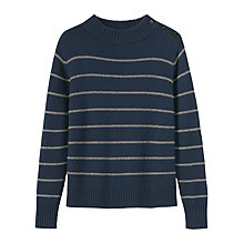 Buy Toast Stripe Wool Cotton Jumper Online at johnlewis.com