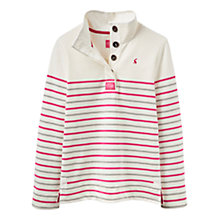 Buy Joules Cowdray Stripe Sweatshirt, Pink Online at johnlewis.com