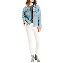 Buy Levi's 721 High Rise Skinny Jeans, Western White Online at johnlewis.com