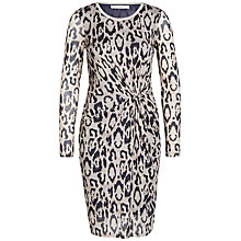 Buy Oui Animal Print Dress, Camel/Grey Online at johnlewis.com