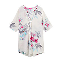 Buy Joules Carys Printed Tunic Top, Creme Bloom Online at johnlewis.com