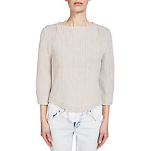 Buy Oui Tie Back Jumper, Light Stone Online at johnlewis.com