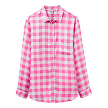 Buy Joules Laurel Check Shirt, Pink Online at johnlewis.com
