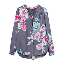 Buy Joules Rosamund Printed Blouse, Grey Bloom Online at johnlewis.com