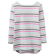 Buy Joules Harbour Stripe 3/4 Sleeve Jersey Top, Neopolitan Stripe Online at johnlewis.com