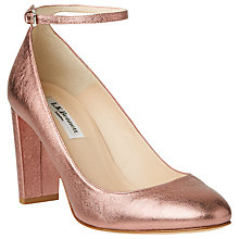 Buy L.K. Bennett Imogen Closed Court Shoes, Pink Chintz Online at johnlewis.com