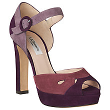 Buy L.K. Bennett Eli Block Heeled Sandals Online at johnlewis.com