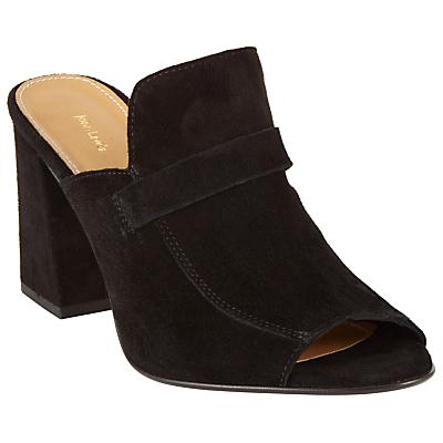 Product photo of John lewis jackie block heeled mule sandals black suede