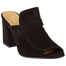 Buy John Lewis Jackie Block Heeled Mule Sandals, Black Suede Online at johnlewis.com