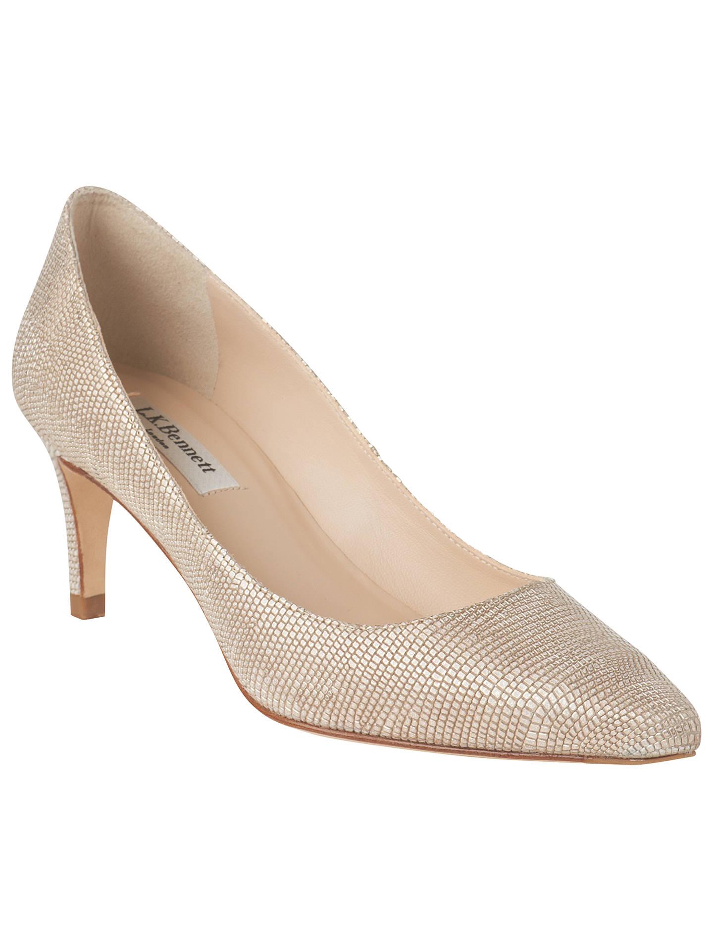 4c9cbcd00f Buy L.K. Bennett Florida Pointed Toe Court Shoes, Platinum Blush, 2 Online  at johnlewis ...
