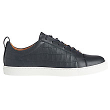 Buy Whistles Kenley Croc Lace Up Trainers Online at johnlewis.com