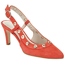 Buy John Lewis Alex Eyelet Court Shoes, Coral Online at johnlewis.com