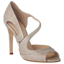 Buy L.K. Bennett Valentina Sandal, Metallic Blush Online at johnlewis.com
