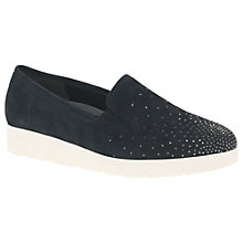Buy Gabor Angela Wide Fit Slip On Trainers, Navy Online at johnlewis.com