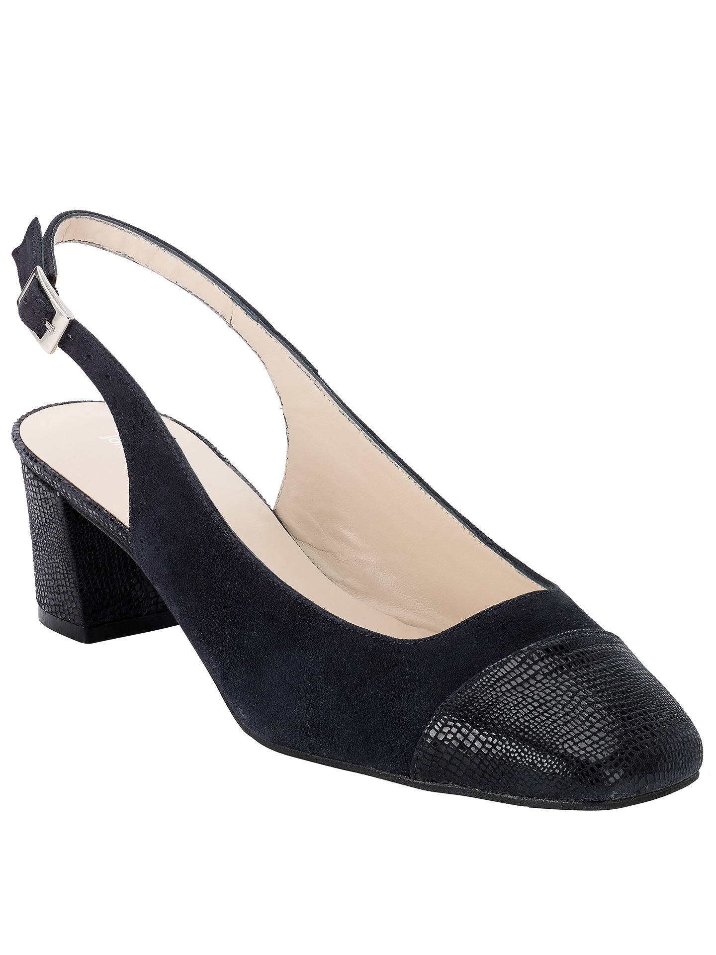 John Lewis Navy Court Shoes