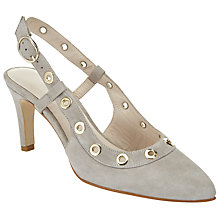 Buy John Lewis Alex Eyelet Court Shoes, Grey Online at johnlewis.com