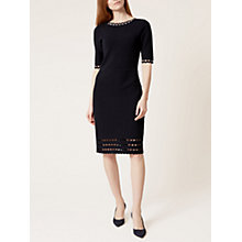 Buy Hobbs Maisy Dress, Navy Online at johnlewis.com