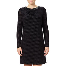 Buy Adrianna Papell Beaded Velvet Swing Dress, Black Online at johnlewis.com