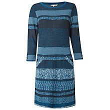 Buy White Stuff Mural Jersey Dress, Teal Online at johnlewis.com