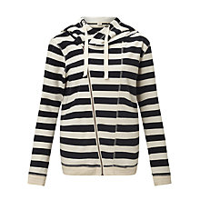 Buy Maison Scotch Home Alone Twisted Hoodie, Ecru/Navy Online at johnlewis.com