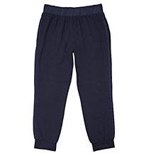 Buy Jigsaw Girls' Relaxed Jersey Trousers, Navy Online at johnlewis.com