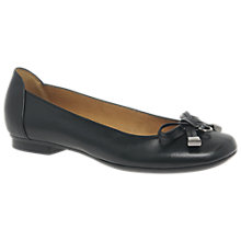 Buy Gabor Natalia Bow Ballet Pumps, Black Online at johnlewis.com
